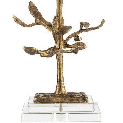 Złota nóżka lampy w kształcie drzewa do sypialni