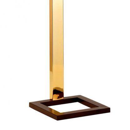 Złota podstawa lampy stołowej do salonu