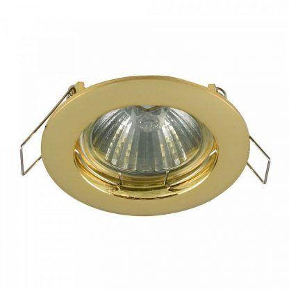 złote oczka halogenowe - złota oprawa led podsufitowa