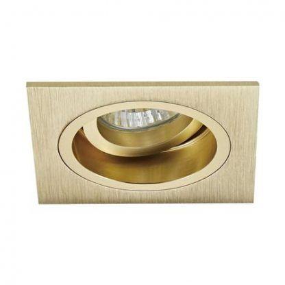 złote oczko wpuszczane w sufit kwadratowe