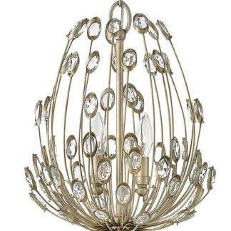 Złote wykończenie lampy z kryształkami w stylu glamour