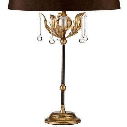 złoto brązowa lampa stojąca do sypialni lub salonu