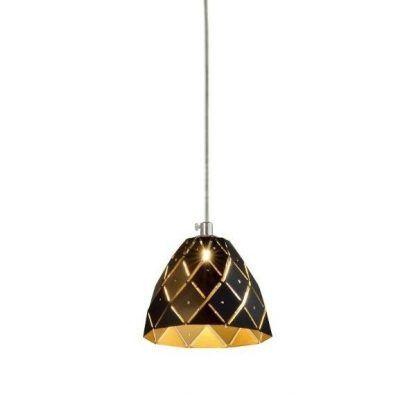 złoto czarna lampa wisząca do sypialni romantycznej