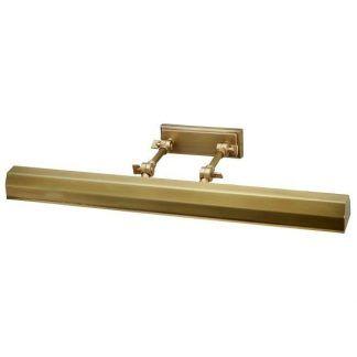złoty kinkiet do łazienki lub nad obraz - podłużny led