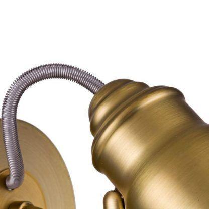 złoty kinkiet metalowy z regulacją styl klasyczny
