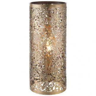 złoty kinkiet wzór wycinany laserowo