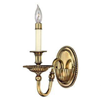 złoty klasyczny kinkiet świecznikowy w połysku