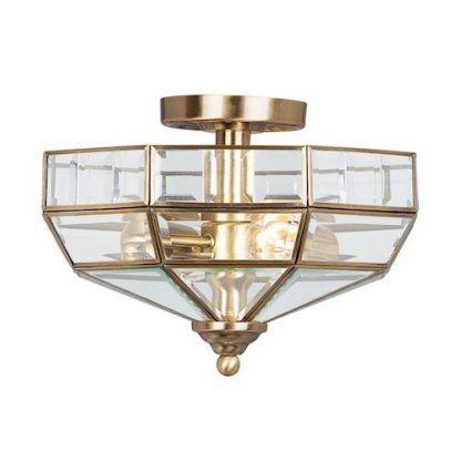 złoty plafon art deco do kuchni lub korytarza
