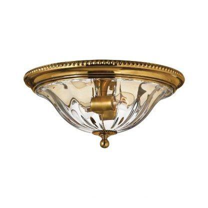 złoty plafon ze szklanym kloszem do salonu