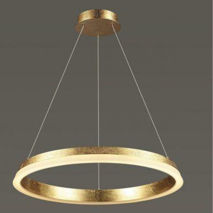 złoty ring wiszący do salonu