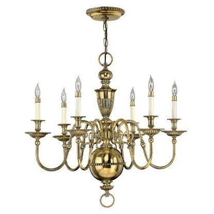 złoty żyrandol w stylu angielskim klasyczny