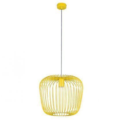 żółta druciana lampa wisząca pokój dziecięcy