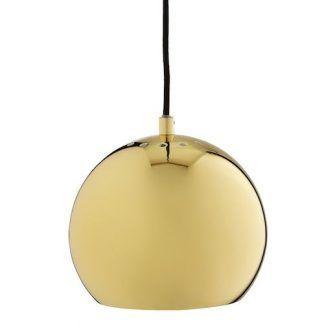 żółta lampa ball w pełnym połysku