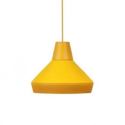żółta lampa wisząca do nowoczesnych wnętrz