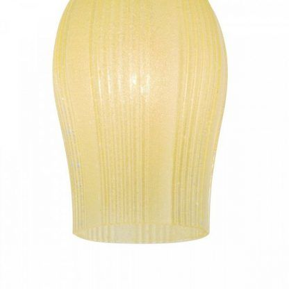żółty szklany klosz lampy wiszacej
