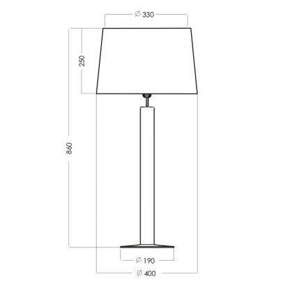 zwymiarowana lampa stołowa