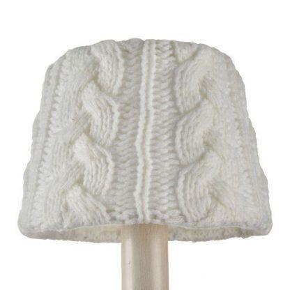 żyrandol ze sweterkowymi abażurami