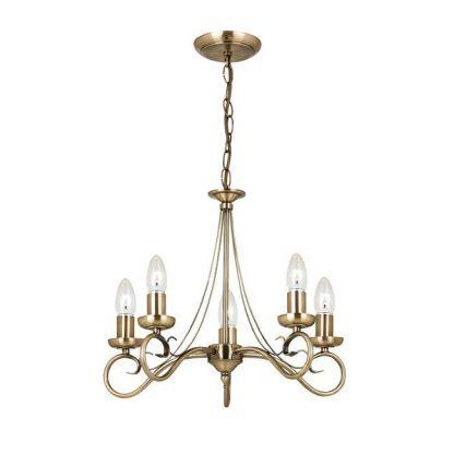 żyrandol złoty świecznikowy do eleganckiego salonu