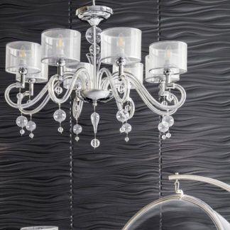 żyrandole nowoczesne do salonu - eleganckie kryształy i szkło