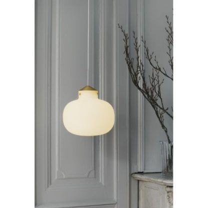 Lampa wisząca Raito nad szklany stół w salonie