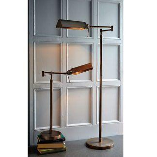aranżacje lamp stojących w salonie - nowoczesne