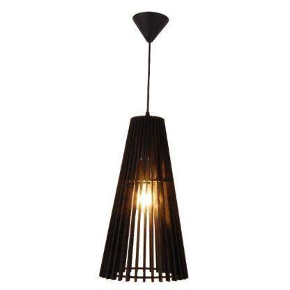czarna ażurowa lampa wisząca do sypialni