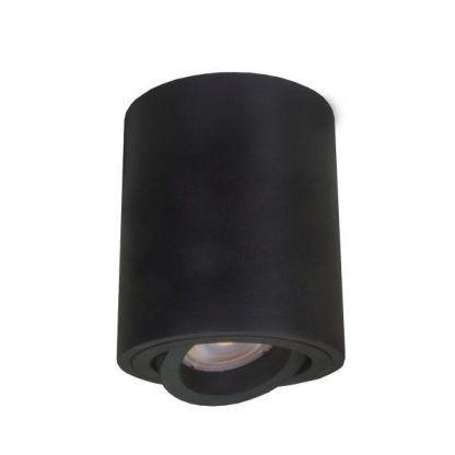 czarna lampa sufitowa z regulowanym oczkiem led