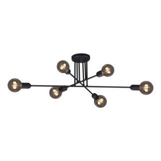 czarna molekularna lampa sufitowa metalowa