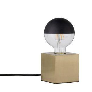 czarna żarówka dekoracyjna do lampki kwadratowej