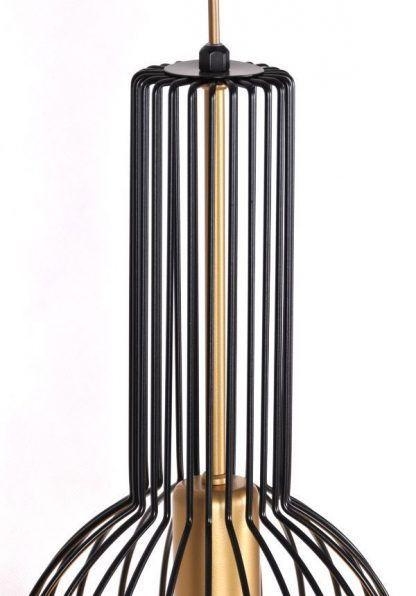 czarno-złoty klosz do lampy drucianej