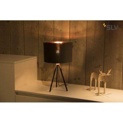 lampa stojąca na 3 nogach - na komodę w salonie