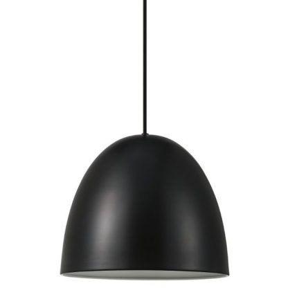 czarny klosz lampy wiszącej nowoczesnej