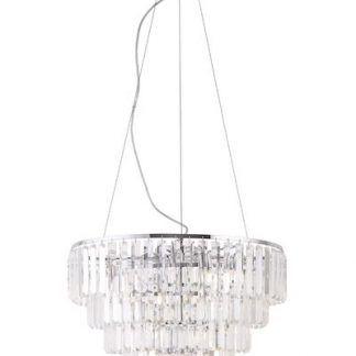 duża kryształowa lampa wisząca ludwiktoriańska