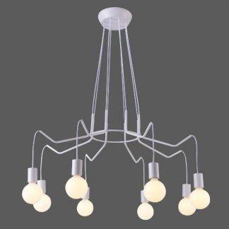 duży biały żyrandol pająk