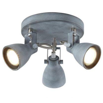 industrialna lampa sufitowa na trzy klosze