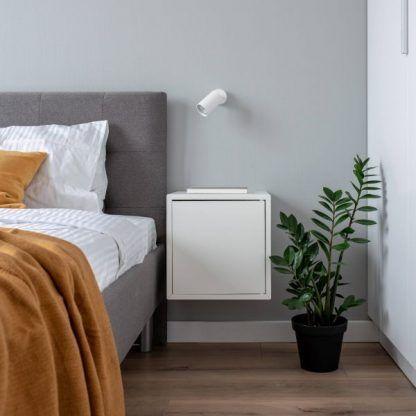 kinkiet do sypialni - aranżacja oświetlenia do czytania