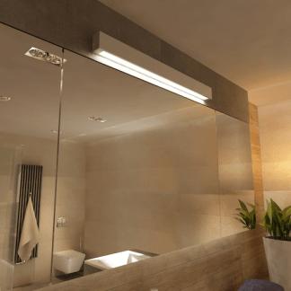 Kinkiet Ibros nad lustro w łazience