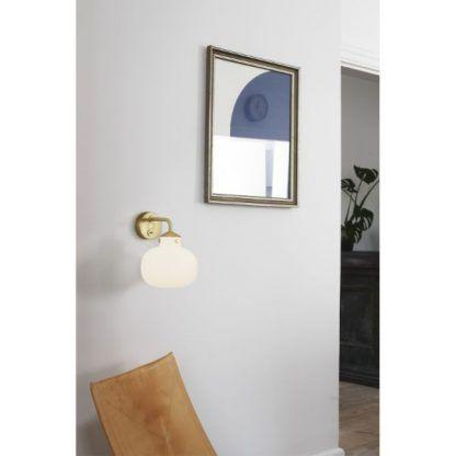 elegancki nowoczesny kinkiet szklany - złoty