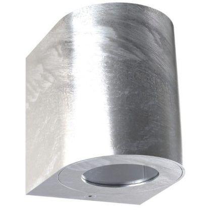 srebrny kinkiet na dom - zewnętrzny ip44