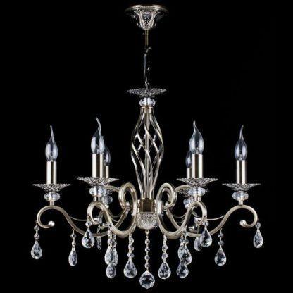 kryształowy żyrandol ze świecznikami do salonu i sypialni
