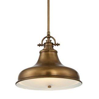lampa industrialna do kuchni - złota postarzana