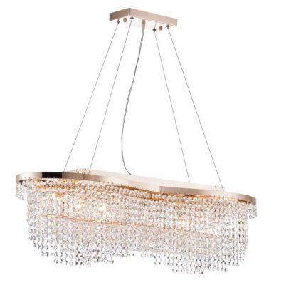 lampa kryształki - wiszące oświetlenie do jadalni i salonu