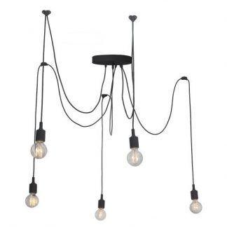 lampa pająk na5 żarówek do pokoju