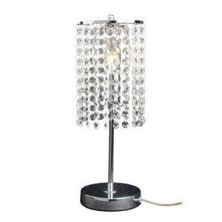 lampa stojąca z kryształkami - mała glamour