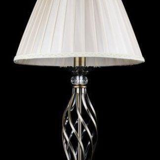 lampa stołowa do klasycznego salonu - abażur biały