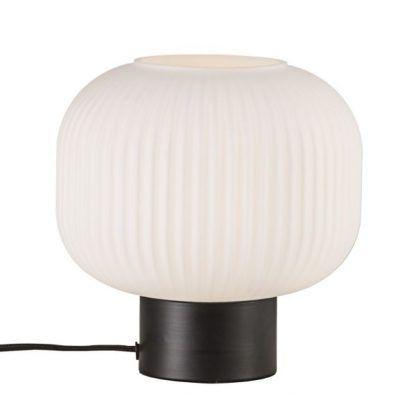ciekawa lampka z kulą - stojąca na biurku