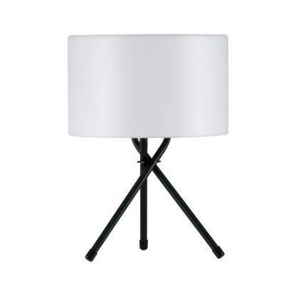 lampa stołowa na taras biały klosz