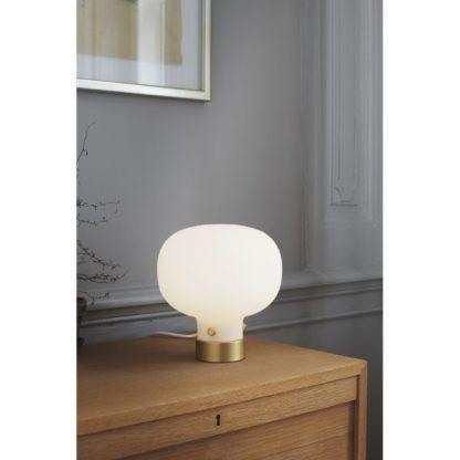 Lampa stołowa Raito na szklany stolik w salonie