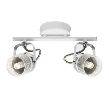 industrialna lampa sufitowa podwójna z kloszami