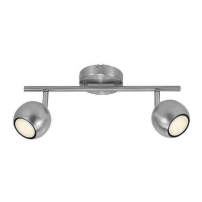 lampa na 2 żarówki do sufitu - srebrne kule